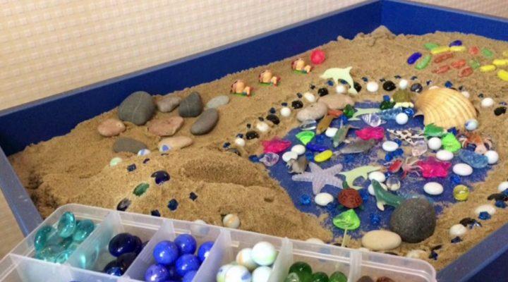 Игры с песком дома на тему «Море»