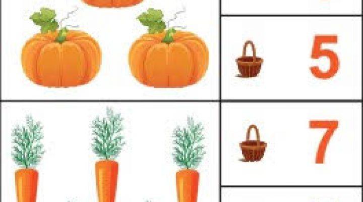Найди цифру от 1 до 10 по теме «Овощи»
