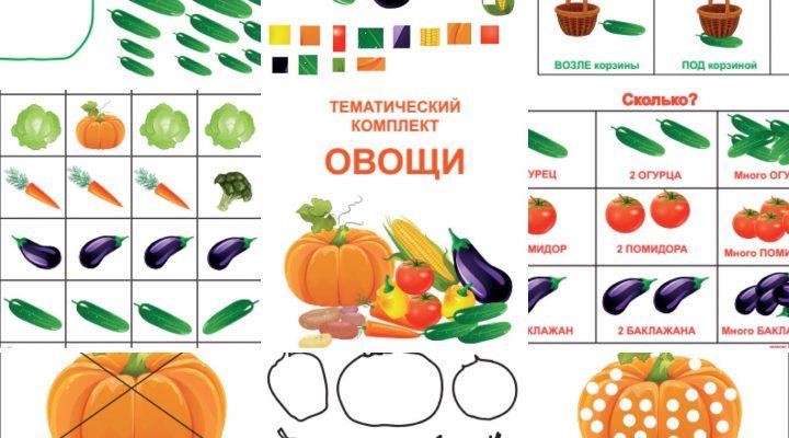 Тематический комплект «Овощи»