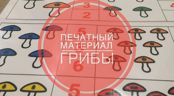 Печатные игры Грибы к игрушке «Грибная поляна»